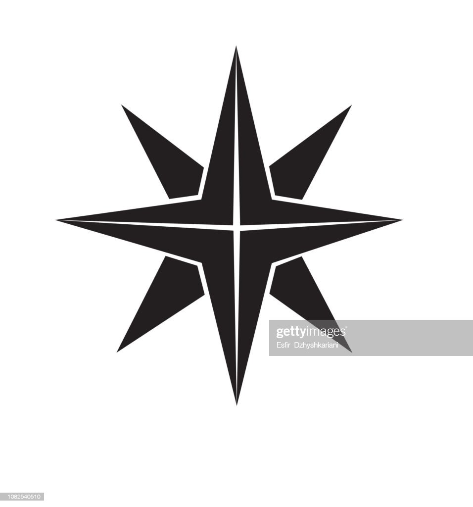 Icon of Christmas flat star icon gold vector isolated on white