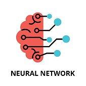 Icon of future technology - neural network