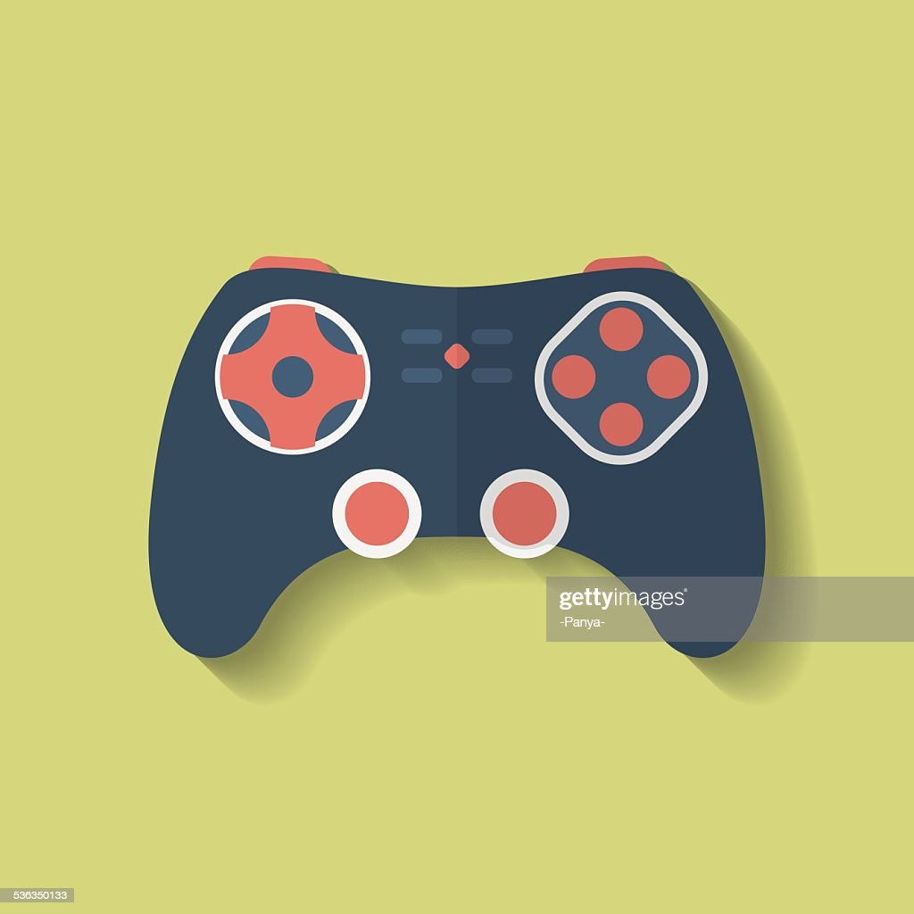 Icon of Joystick, controller, game pad. Flat style