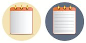 Icon of notebook in two variations