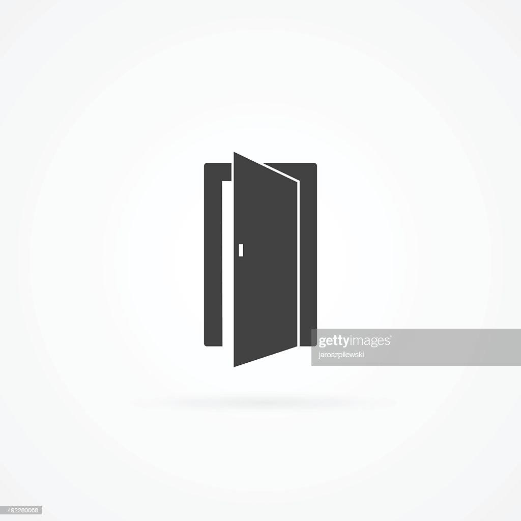 Icon of open door.