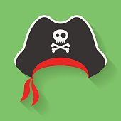 Icon of Pirate Hat with a Jolly Roger symbol.