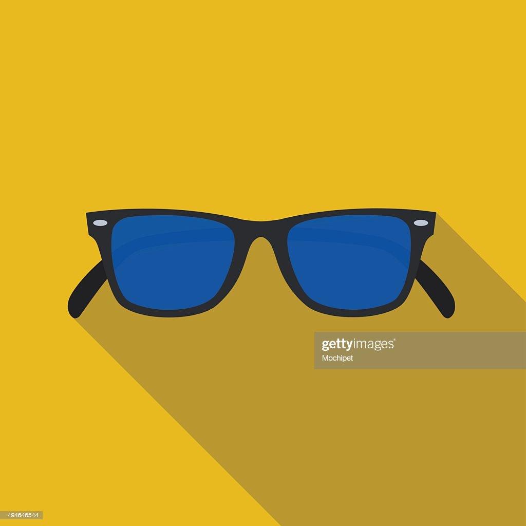 icon of sunglasses in flat design