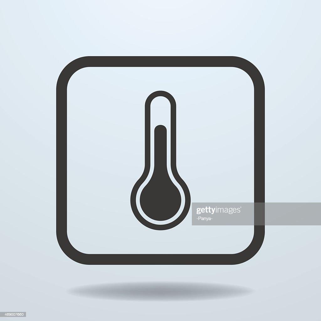 Icon of Temperature, thermometer sign, symbol