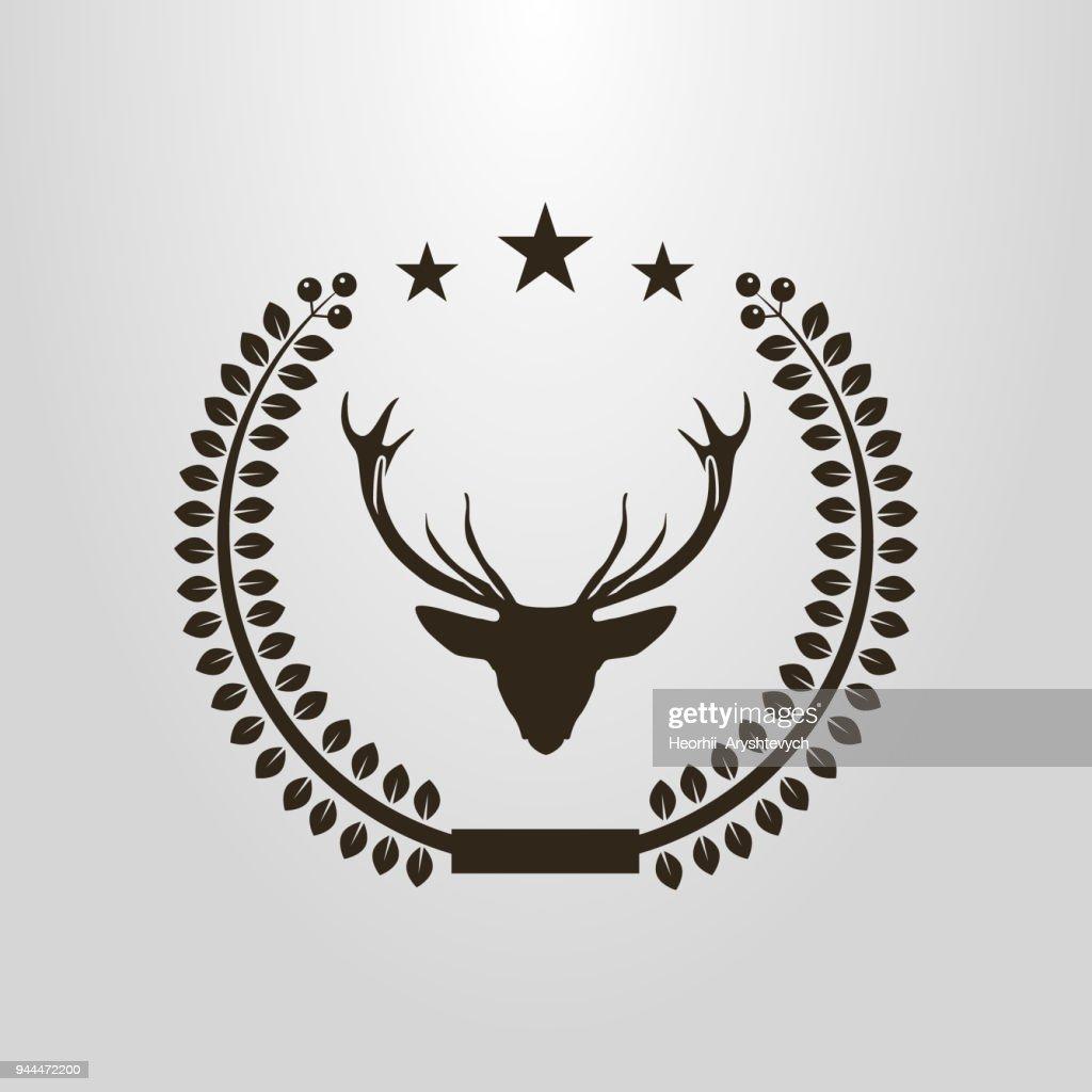 icon of the deer in the laurel wreath