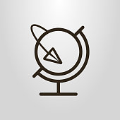 icon of the globe and paper airplane