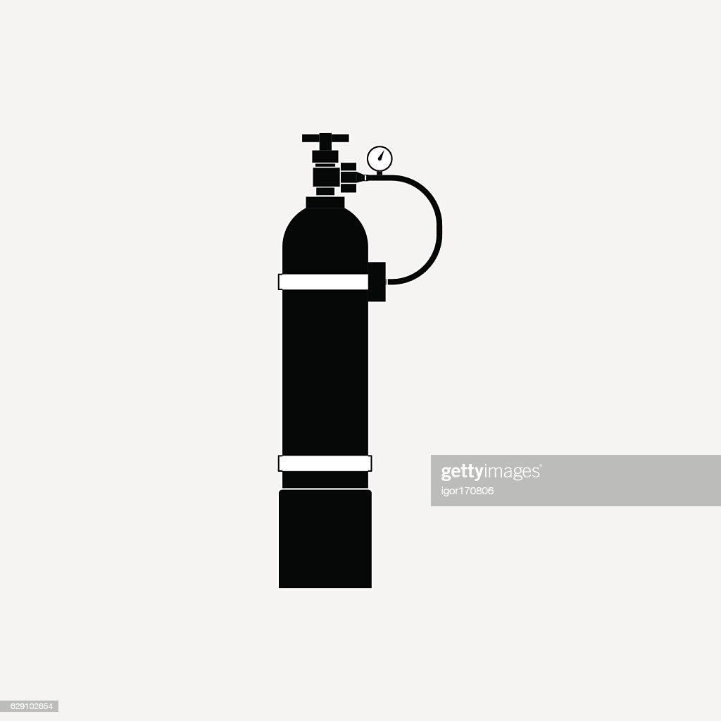 icon oxygen cylinder