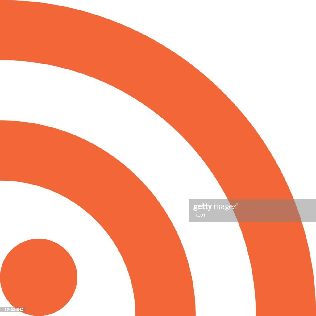 RSS icon really simple syndication sign flat style