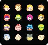 Icon series - Faces