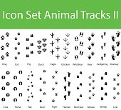 Icon Set Animal Tracks II