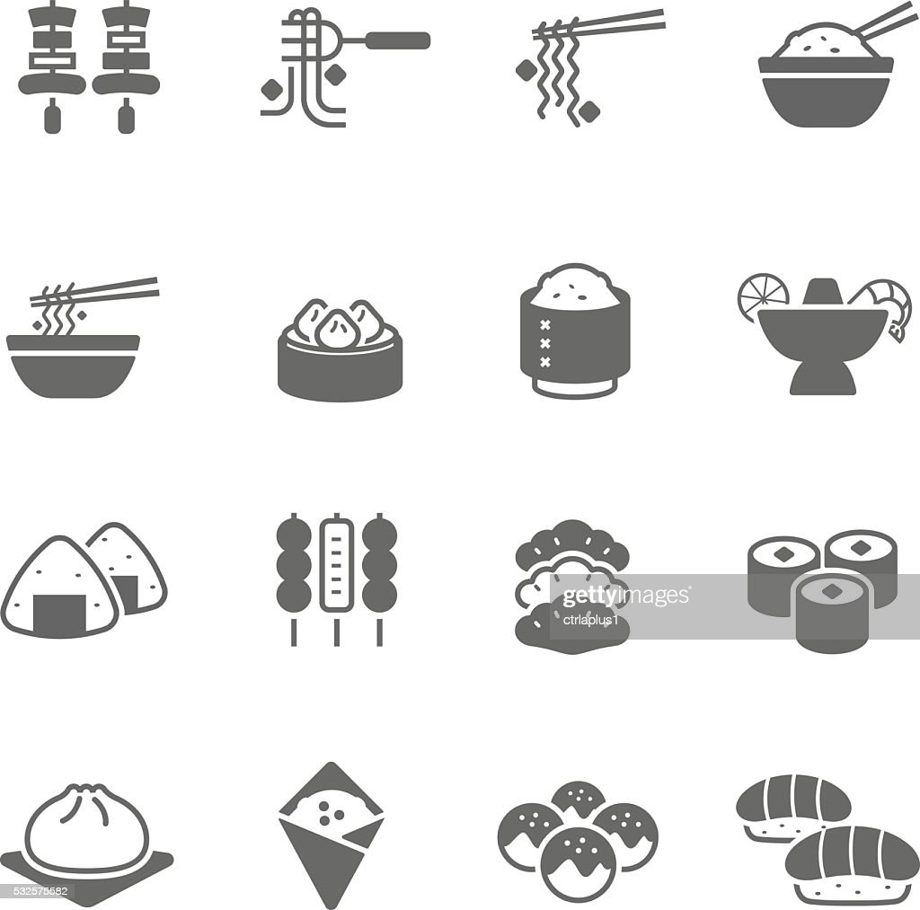 Icon set - Asian Food