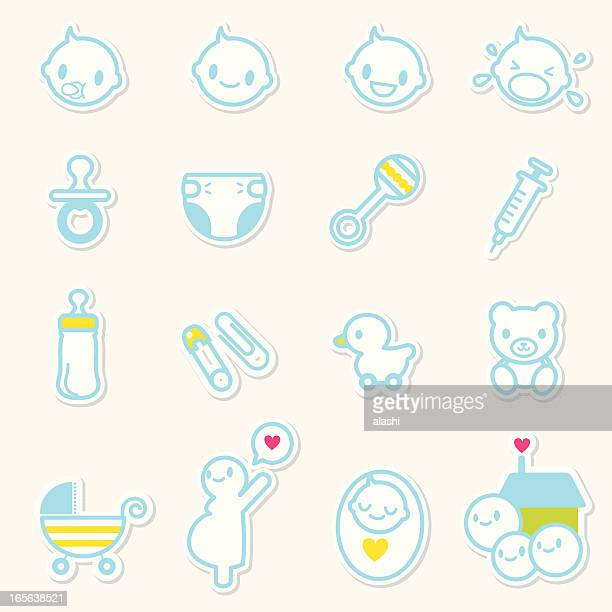 Icon set - Baby Care and family love