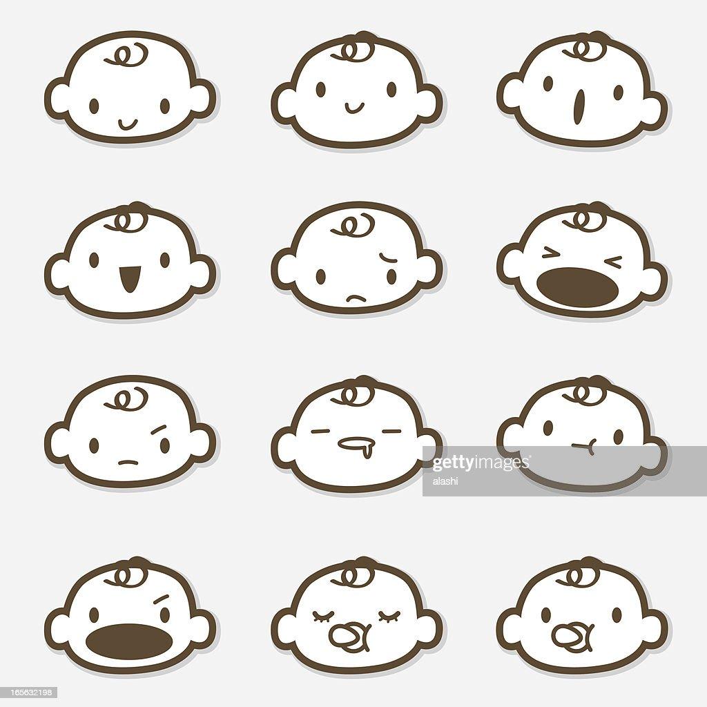 Icon Set - Baby Face ( Emoticons )