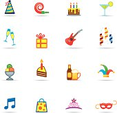 Icon Set, Birthday and Celebrations Color