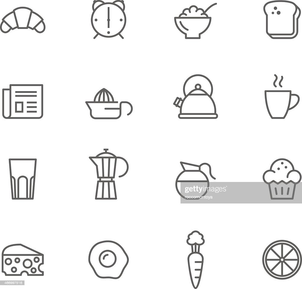Icon Set, Breakfast