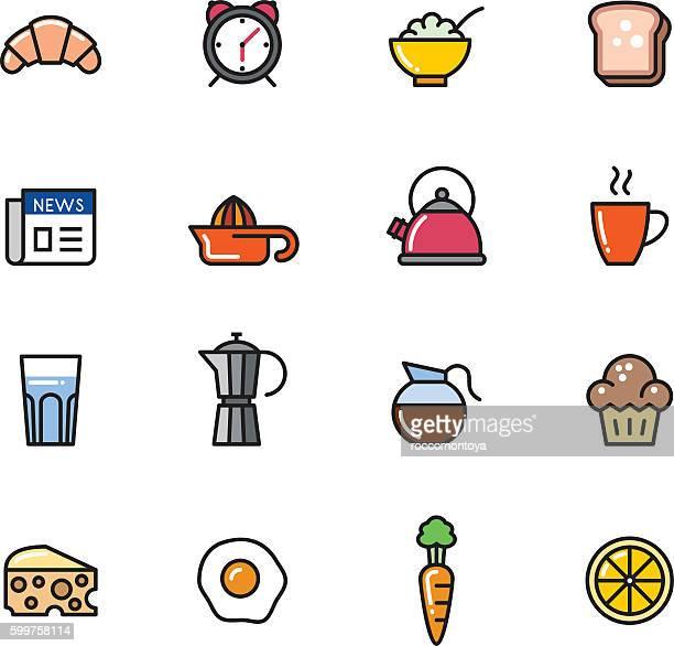 Icon Set, Breakfast