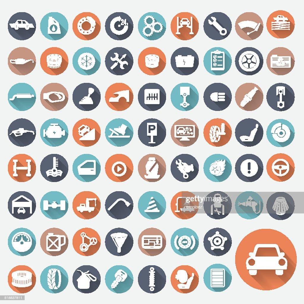 Icon Set Car Service