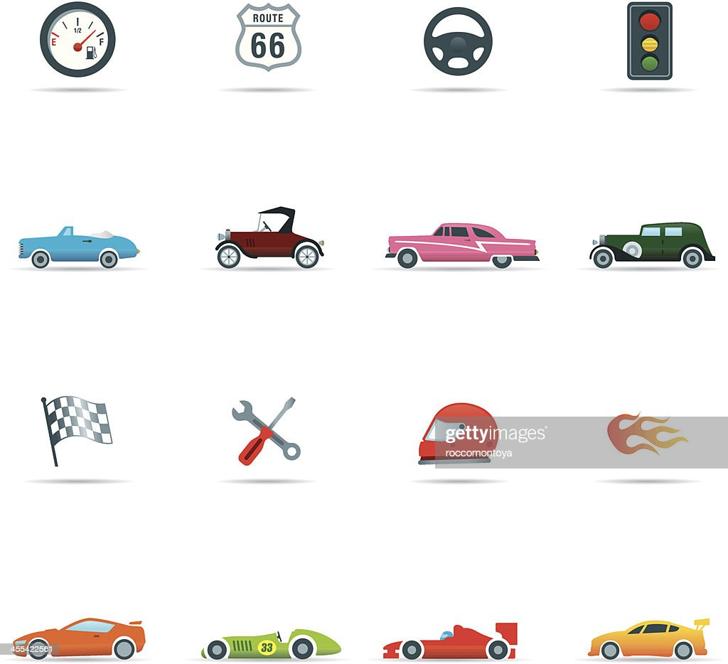 Icon set, Cars and Mechanics Color