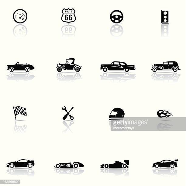 Icon set, Cars and Mechanics