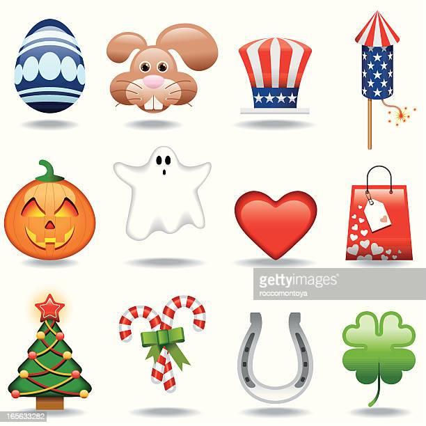 Icon Set, Celebrations and Holidays