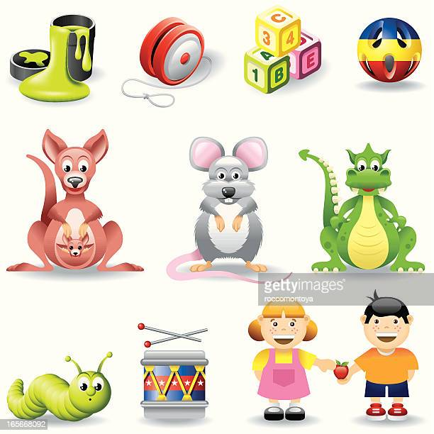 icon set, children - slimy stock illustrations, clip art, cartoons, & icons