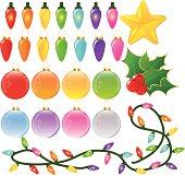 Icon Set - Christmas Decorations