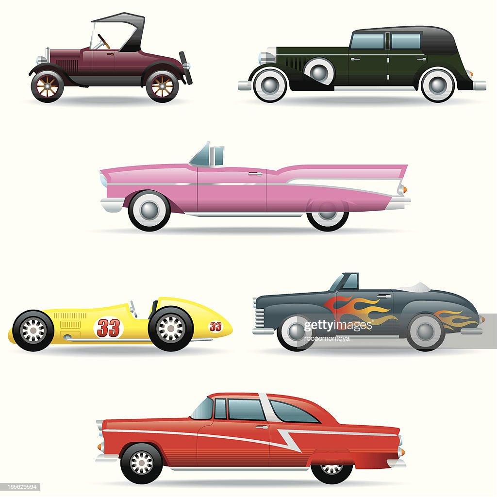 Icon Set, Classic Cars : stock illustration