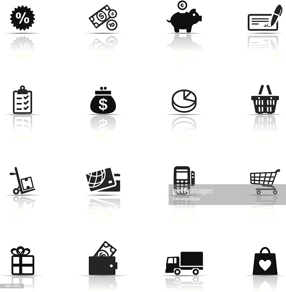 Icon Set, Commerce and Retail : stock illustration