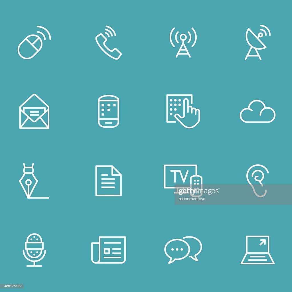 Icon Set, Communication