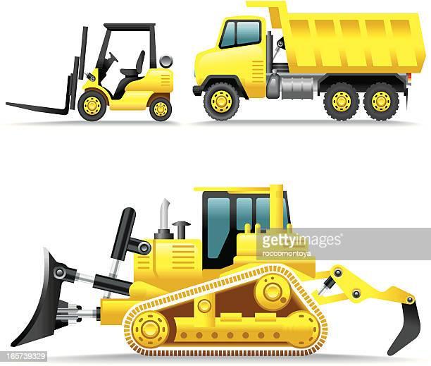 Icon Set, Construction Machines