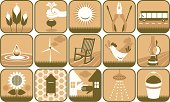Icon set - country living.