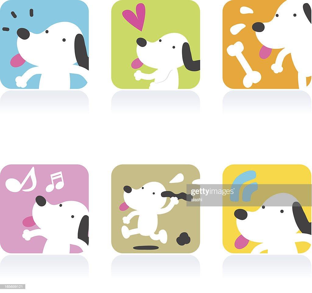 Icon Set( Emoticons ) - Cute Dog