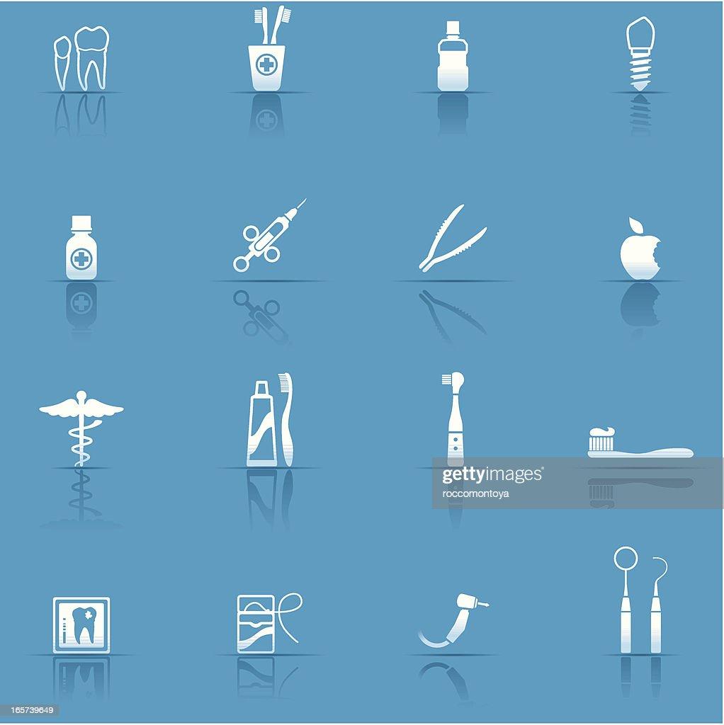 Icon Set, Dental Equipment : stock illustration
