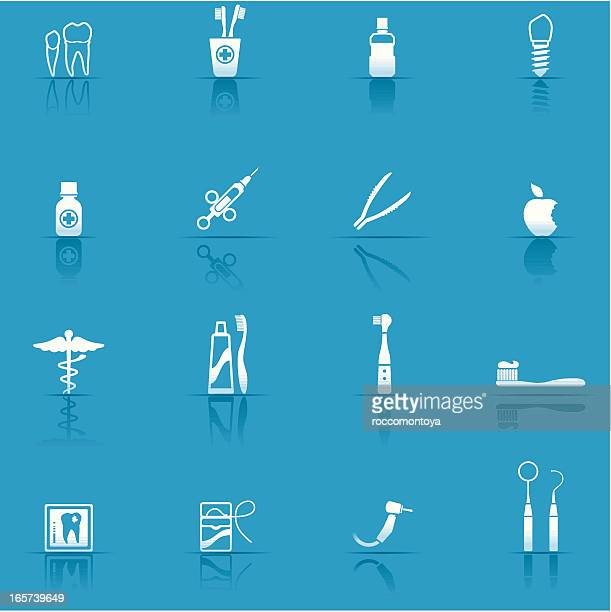 icon set, dental equipment - electric toothbrush stock illustrations