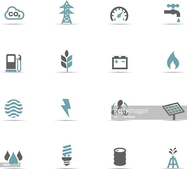 icon set, energy and industry - electricity stock illustrations, clip art, cartoons, & icons