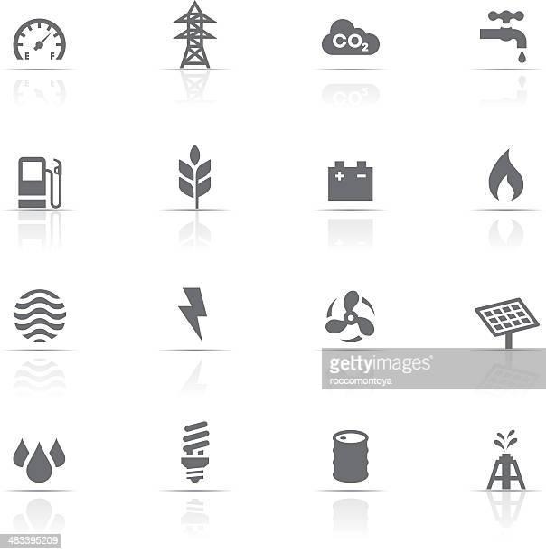 Icon-Set, den Energiesektor und die Industrie