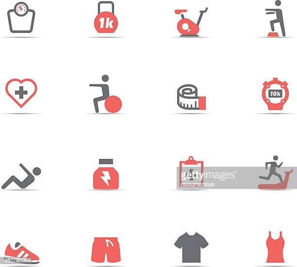 icon set, fitness and gym - aerobics class stock illustrations, clip art, cartoons, & icons
