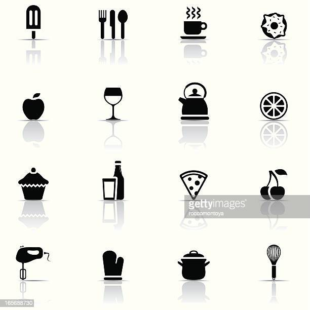 icon set, food and kitchen - egg beater stock illustrations, clip art, cartoons, & icons