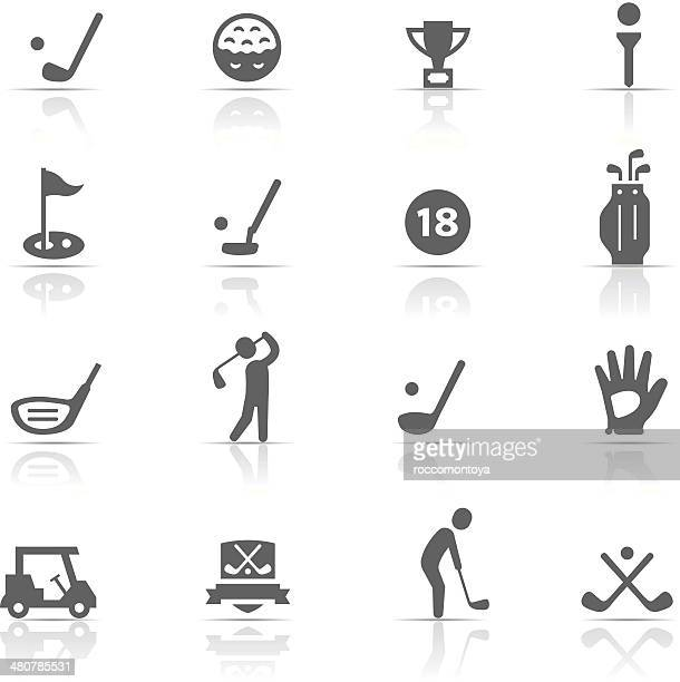 icon set, golf - putting stock illustrations