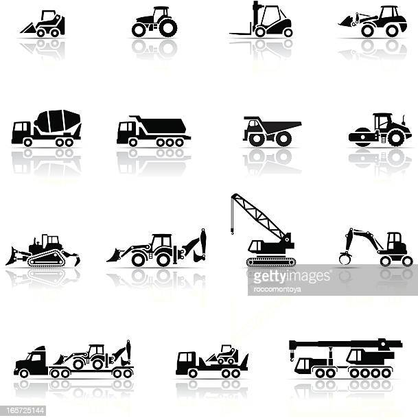 Icon Set, heavy machines