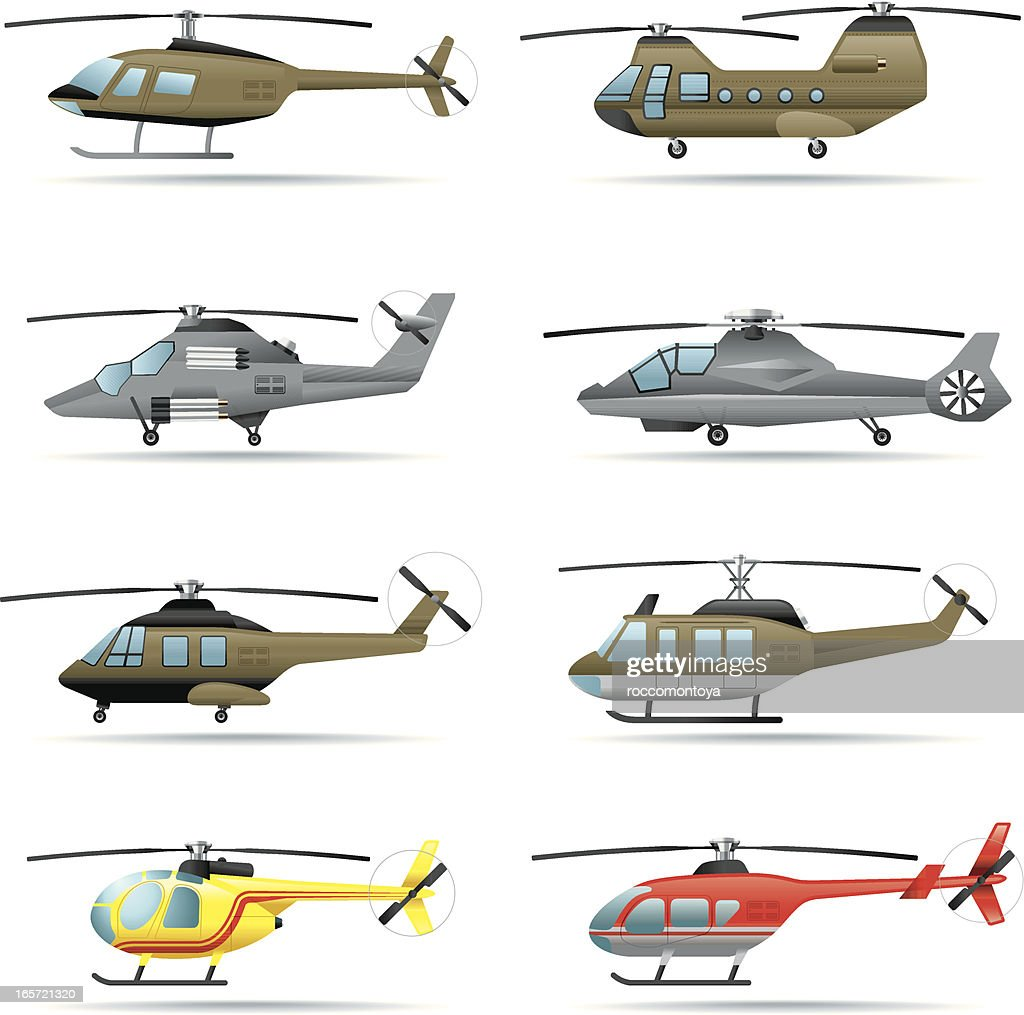 Icon set, Helicopters
