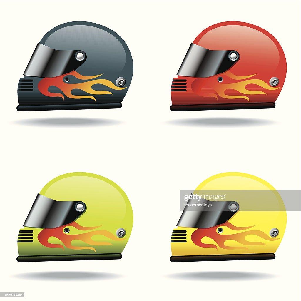Icon Set, Helmets : stock illustration