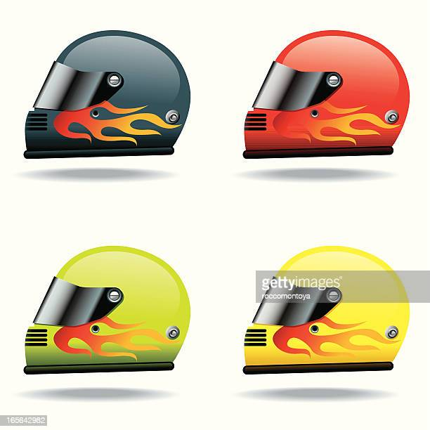 icon set, helmets - work helmet stock illustrations