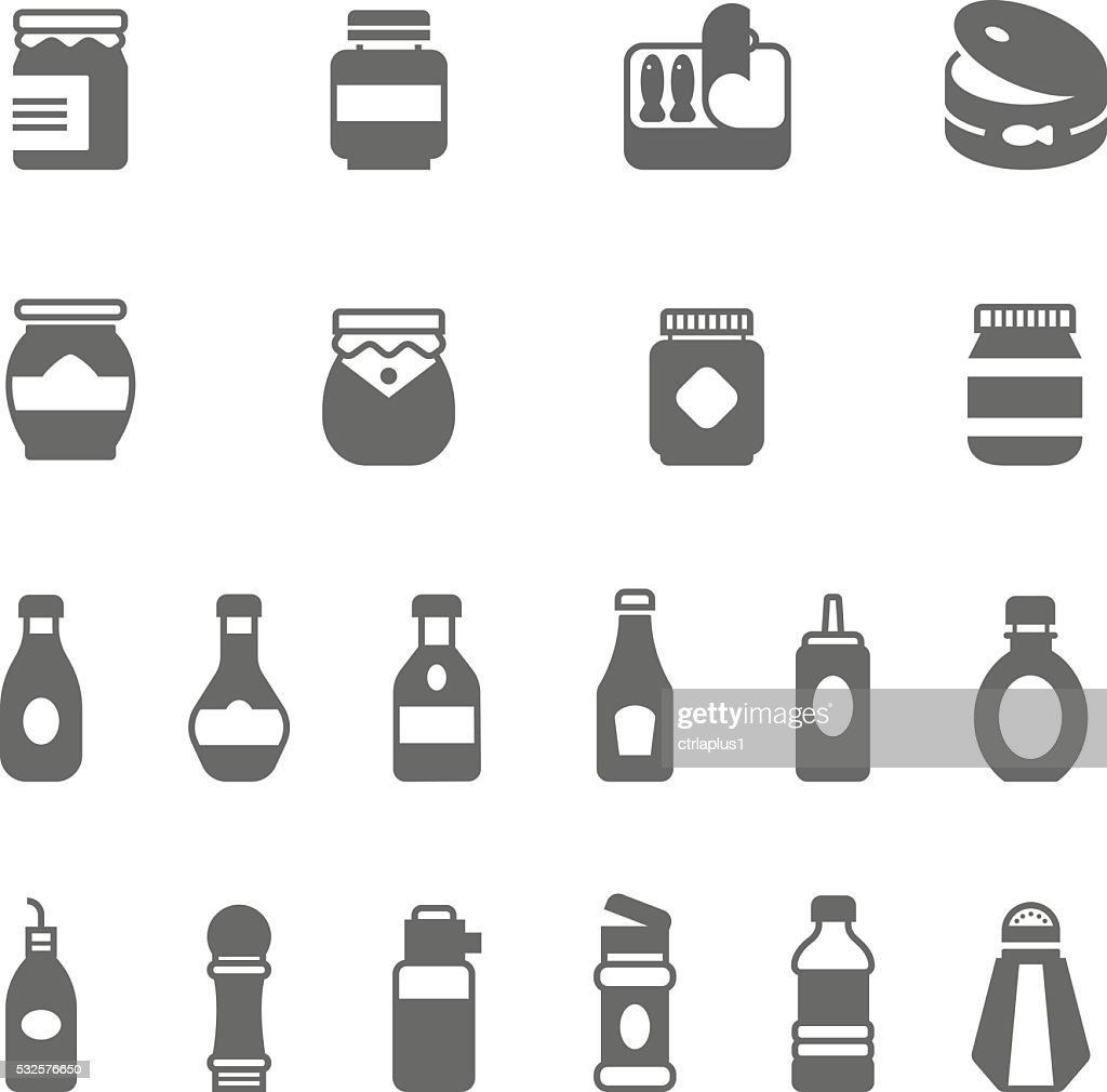Icon set - ketchup