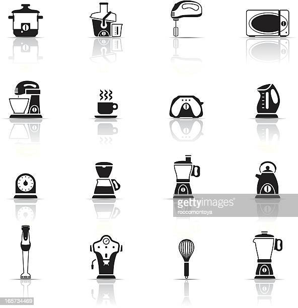 icon set, kitchen appliance - egg beater stock illustrations, clip art, cartoons, & icons