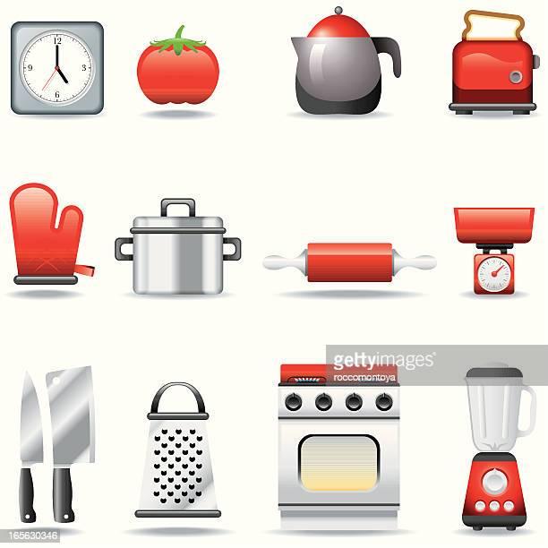 icon set, kitchen - kitchenware department stock illustrations, clip art, cartoons, & icons