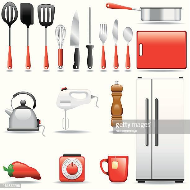 icon set, kitchen - egg beater stock illustrations, clip art, cartoons, & icons