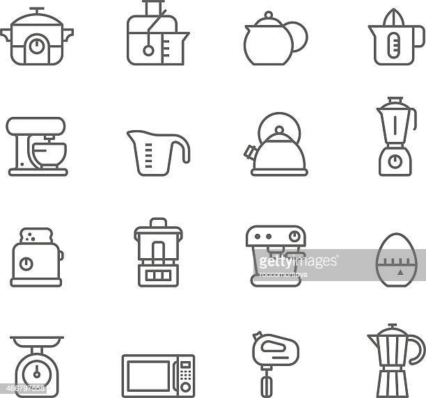 icon set, kitchen - kitchen scale stock illustrations, clip art, cartoons, & icons