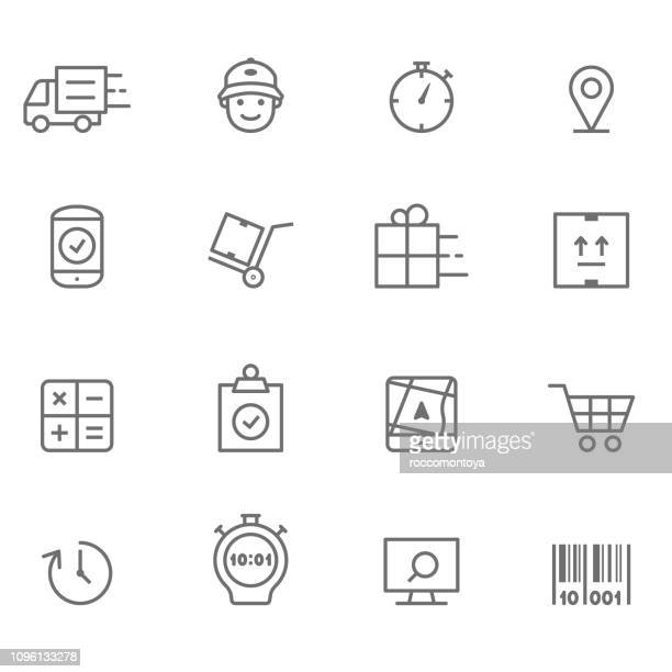 icon set logistic - illustration - kostenlos stock-grafiken, -clipart, -cartoons und -symbole