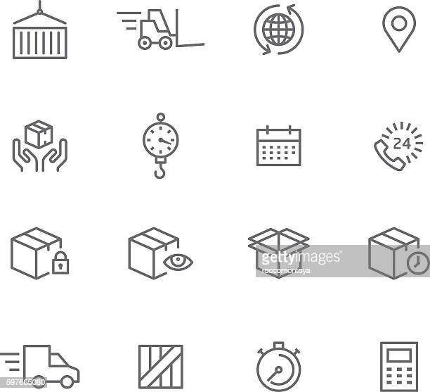 icon set, logistic - mass stock illustrations
